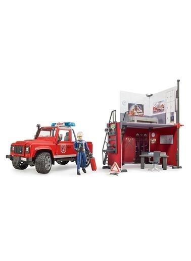 Bruder Bruder ıtfaiye ıstasyonu ve Land Rover ıtfaiye Aracı 62701 Renkli